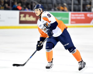 Vili Saarijarvi of the Flint Firebirds. (Aaron Bell/OHL Images)