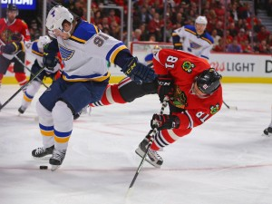 Would an aging Hossa be better off on a lower line? (Dennis Wierzbicki-USA TODAY Sports)