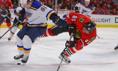 Blues Playoff Bid Could Rely on Rival Blackhawks