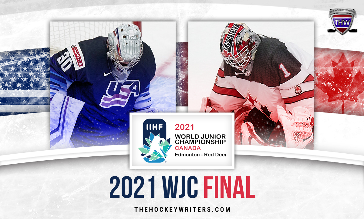2021 WJC Final Canada vs USA Devon Levi and Spencer Knight