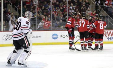 Devils Down Blackhawks - Palmieri & Coleman With 2 Each