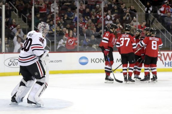 Chicago Blackhawks Cam Ward New Jersey Devils