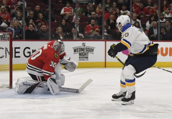 Chicago Blackhawks Cam Ward St. Louis Blues Oskar Sundqvist