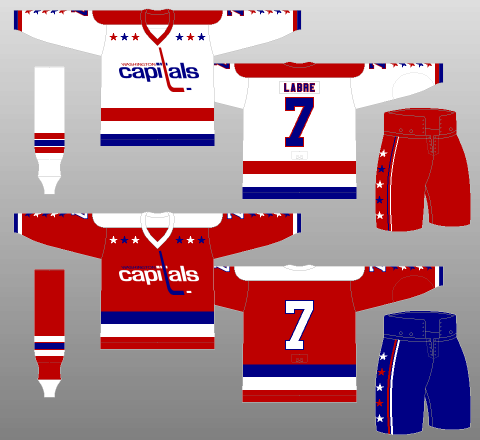 Washington Capitals 1974-75 Jerseys