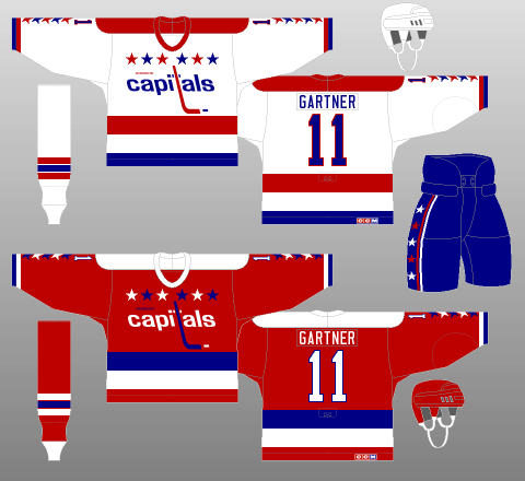 Washington Capitals 1985-87 Jerseys