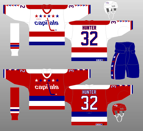 Washington Capitals 1987-95 Jerseys