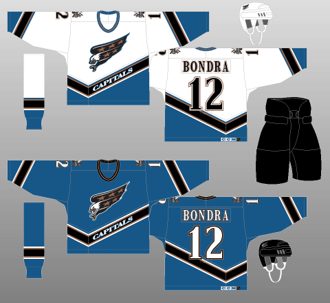 Washington Capitals 1995-97 Jerseys