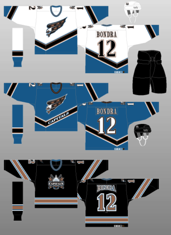 Washington Capitals 1997-2000 Jerseys