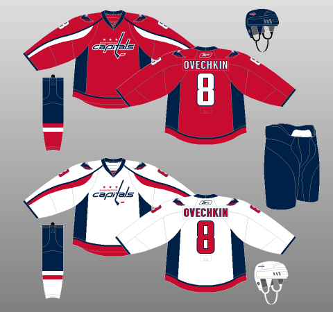 dc418e265 Washington Capitals 2007-11 Jerseys