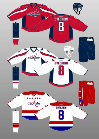 Washington Capitals 2011-12 Jerseys