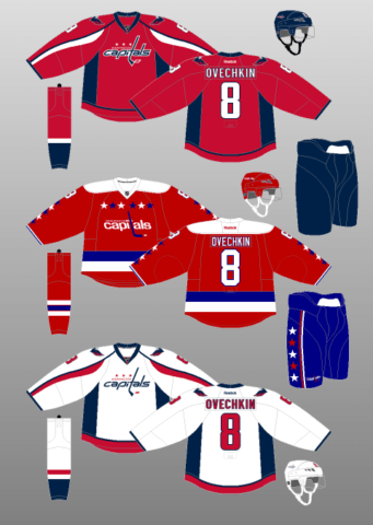 Washington Capitals 2015-17 Jerseys