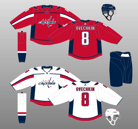 Washington Capitals 2017-Present Jerseys