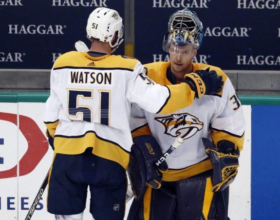 Austin Watson, Pekka Rinne