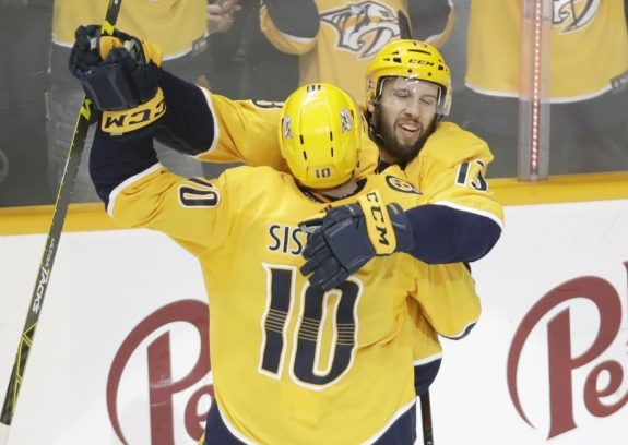 Nashville Predators' Nick Bonino Colton Sissons