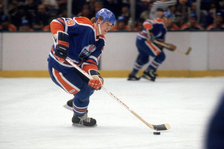 Wayne Gretzky #99 of the Edmonton Oilers