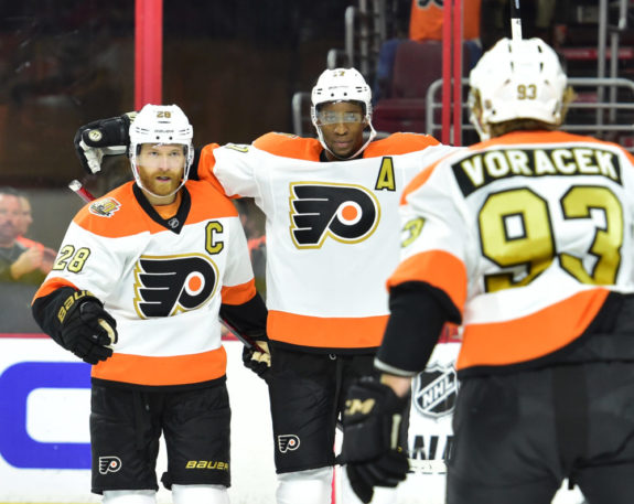 Giroux, Simmonds, and Voracek have sparked the Flyer offense (Eric Hartline-USA TODAY Sports)