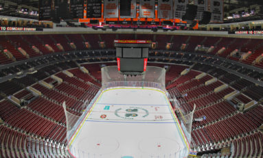 Flyers Season Opener: Sights & Sounds in an Empty Wells Fargo Center