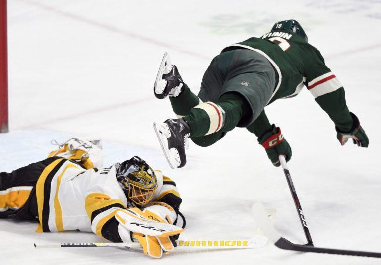 Pittsburgh Penguins Casey DeSmith Minnesota Wild Luke Kunin