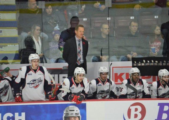 Windsor Spitfires coach Trevor Letowski