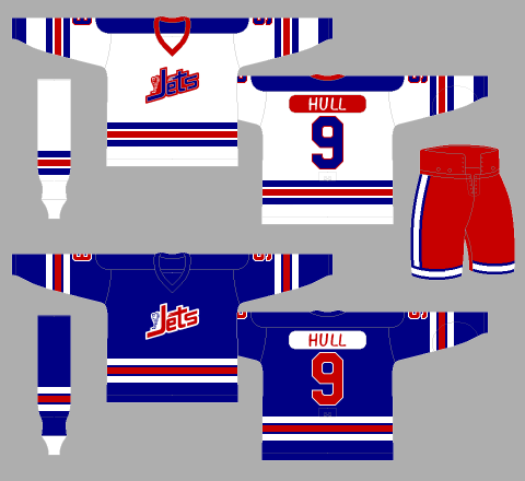 Winnipeg Jets 1972-73 Jerseys