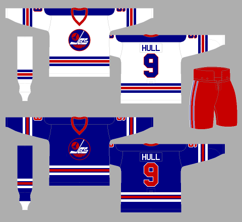 Winnipeg Jets 1976-77 Jerseys