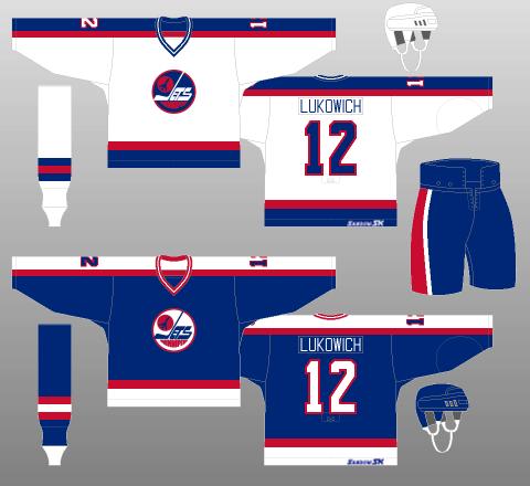 Winnipeg Jets 1980-90 Jerseys