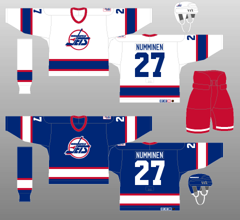 Winnipeg Jets 1990-96 Jerseys