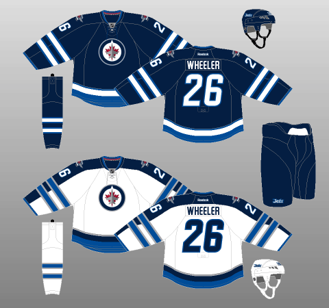 Winnipeg Jets 2011-17 Jerseys