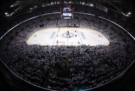 NHL playoff hockey action in Winnipeg