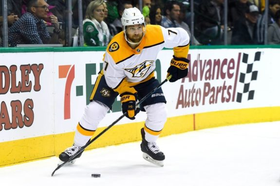 Predators defenseman Yannick Weber