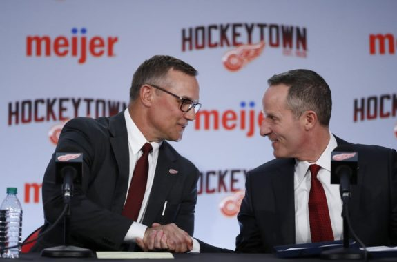 Steve Yzerman and Christopher Ilitch of the Detroit Red Wings.