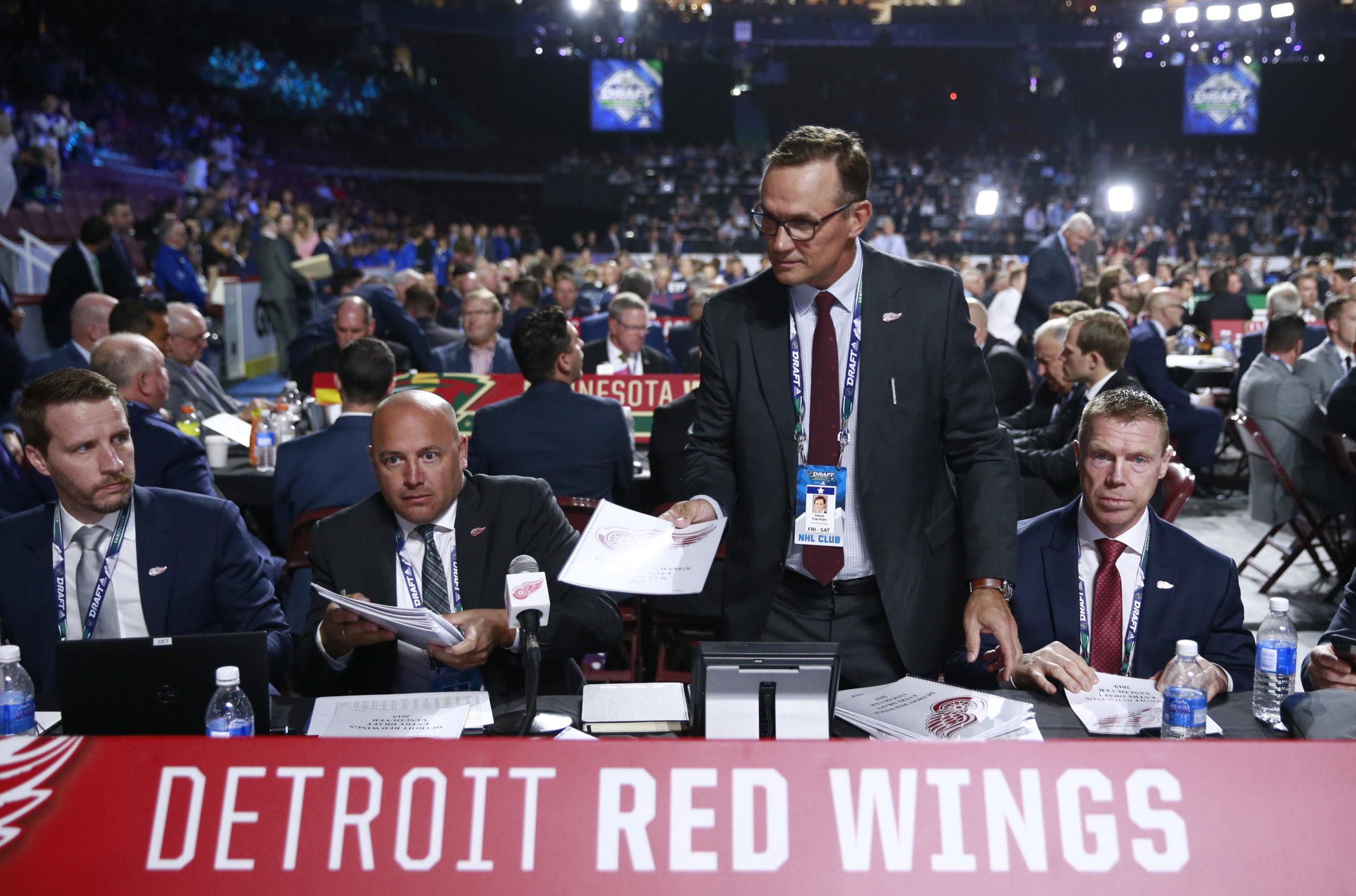 Tyler Wright Steve Yzerman Kris Draper Detroit Red Wings