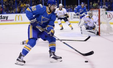 Where Zach Sanford Fits in the Blues' Lineup