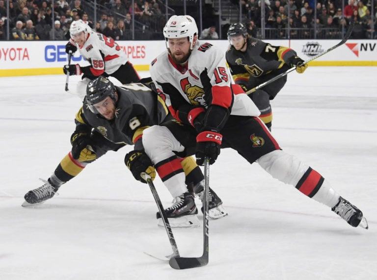 Zack Smith #15 of the Ottawa Senators