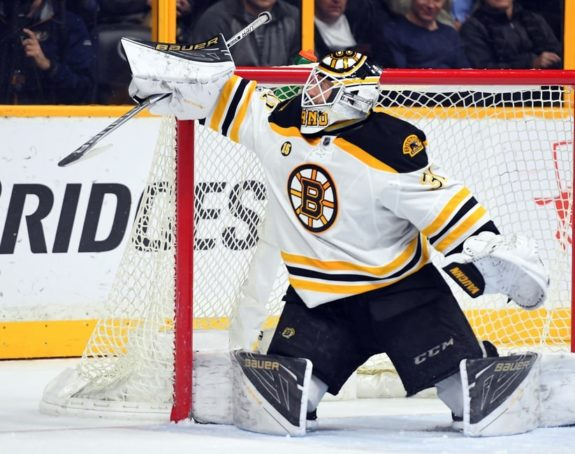 Bruins goalie Zane McIntyre