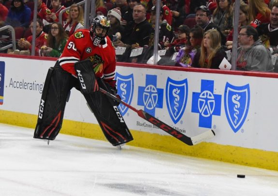 Blackhawks goaltender Corey Crawford