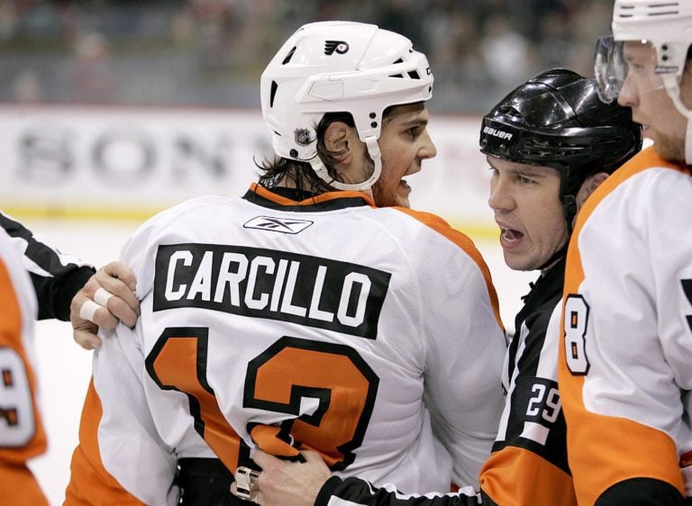 Flyers left wing Daniel Carcillo