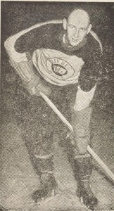 Punch Imlach as a player with Quebec Aces.