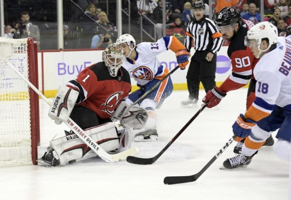 best website 4b825 ca0a1 New Jersey Devils Trade Keith Kinkaid to Columbus Blue Jackets
