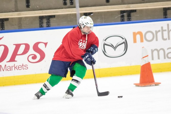 Sandra Velasquez at the NWHL free agent camp in Buffalo. (Photo Credit: Michael Heizel)