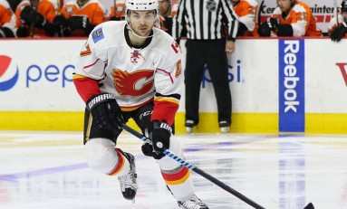Flames' Frolik Responds Strong