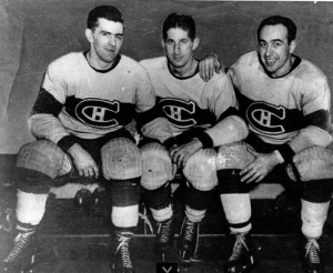 Maurice Richard, Elmer Lach and Toe Blake - the Punch Line.