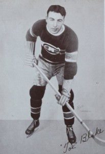 Toe Blake in his early days with Canadiens.