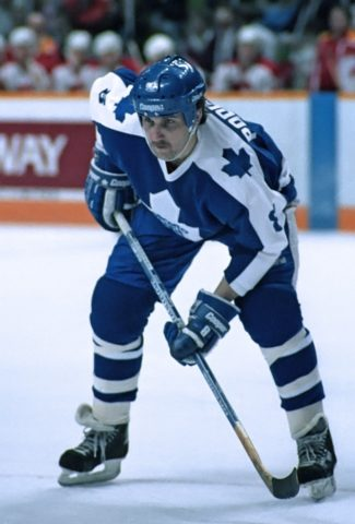 Walt Poddubny #8 of the Toronto Maple Leafs