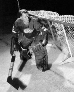 Hank Bassen's eight-minute relief job preserved the Detroit shutout.