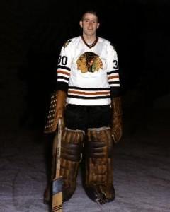 Chicago's rookie goalie Dave Dryden.
