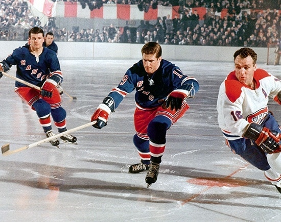 Rangers Jean Ratelle Canadiens Henri Richard
