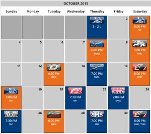 oilers schedule