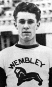 Des Smith with Wembley, England.