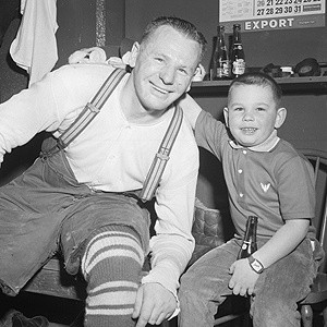 Johnny Bower and son John Jr.